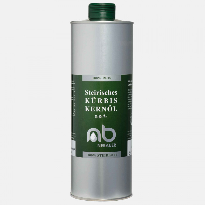 NEBAUERs Styrian Pumpkin seed oil P.G.J. 1 liter can
