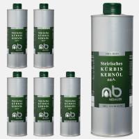 SIX PACK - NEBAUERs Styrian Pumpkin seed oil P.G.J. 1 liter can