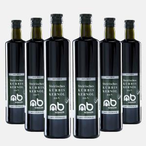 SIX PACK - NEBAUERs Styrian pumpkin seed oil P.G.J. 750 ml