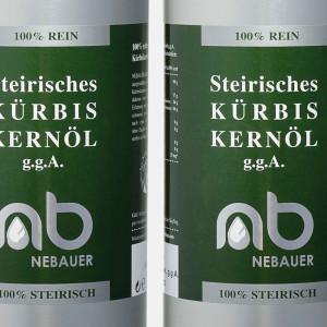 THREE PACK - NEBAUERs Styrian Pumpkin seed oil P.G.J. 1...