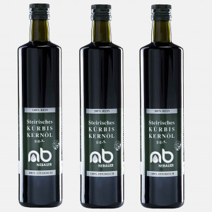 THREE PACK - NEBAUERs Styrian pumpkin seed oil P.G.J. 750 ml